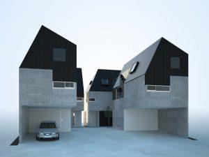 千葉県の4棟建売 戸建住宅のCGパース